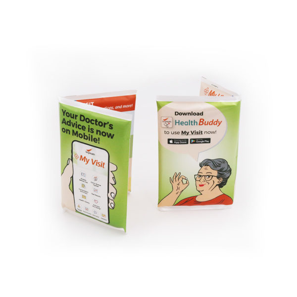 A_Plastic Wallet Tissue Pack – Health Buddy Past Project