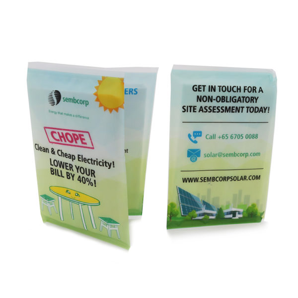 Plastic Wallet Tissue Pack_Sembcorp
