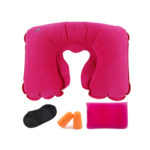 Tobo Inflatable Neck Pillow with Eye Mask and Ear Plugs Set_1