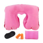 Tobo Inflatable Neck Pillow with Eye Mask and Ear Plugs Set_4
