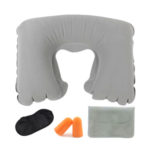 Tobo Inflatable Neck Pillow with Eye Mask and Ear Plugs Set_5