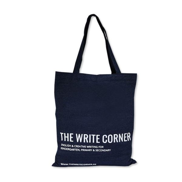 Denim Tote Bags Printing_The Write Corner