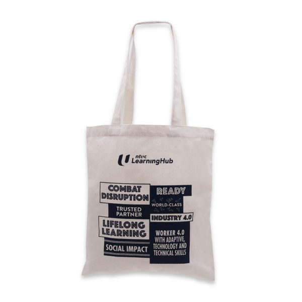 A_Ready Stock A4 Canvas Bag – NTUC Learning Hub_Past Project